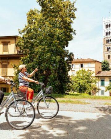 Cyklel på muren i Lucca
